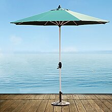Sonnenschirme Markt-Patio-im Freien Regenschirm-Garten-Rasen-Tabelle Sun-Überdachungs-Aluminium-Pfosten-Regenschirm-UVschutz (Farbe : Dunkelgrün)