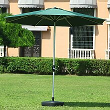 Sonnenschirme Markt-Patio-im Freien Regenschirm-Garten-Rasen-Tabelle Sun-Überdachungs-UVschützender Aluminium-Pole (Farbe : Dunkelgrün)