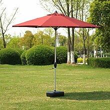 Sonnenschirme Markt-Patio-im Freien Regenschirm-Garten-Rasen-Tabelle Sun-Überdachungs-Aluminium-Pfosten-UV schützende 270cm * 250cm (Farbe : Dunkelgrün)