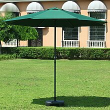 Sonnenschirme Markt-Patio-im Freien Regenschirm-Garten-Rasen-Tabelle Sun-Überdachungs-UVschutzeisen (Farbe : Dunkelgrün)