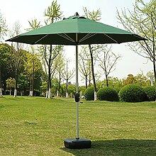 Sonnenschirme Markt-Patio-im Freiensonnenschirm-Regenschirm-Garten-Rasen-Tabellen-Sun-Überdachungs-Aluminiumpfosten-UVschutz (Farbe : Dunkelgrün)