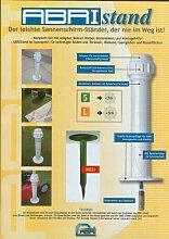 Sonnenschirmhalter ABRI Schirmhalter STABIELO L mit 2 Edelstahlhülsen + Bohrer + Kleber zum Einkleben in STEIN-FLIESEN-BETON-ASPHALT-HOLz -BÖDEN für Standortwechsel auf feste Böden - 45 - 63 mm Stockdurchmesser - INNOVATIONEN MADE in GERMANY - Holly ® Produkte STABIELO -