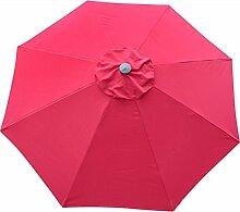 Sonnenschirmschirm-Markt-Patio-im Freiengarten-Rasen-Tabelle Sun-Überdachung UVschutz 270cm * 230cm (Farbe : Rose rot)