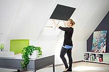 Sonnenschutz Dachfenster Dachfensterplissee '2.0', Alurahmen - 110 x 160 cm - Rahmen weiß