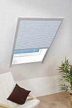 Sonnenschutz-Dachfenster-Plissee 110 x 160 cm in Weiß