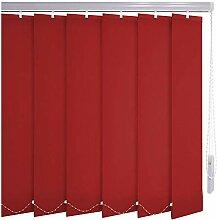 Sonnenschutz-HH® - Lamellenvorhang rot