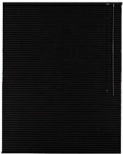 Sonnenschutz-HH Aluminium Jalousie Standard 110 x 160 cm schwarz / 110x160 cm / Alu-Jalousie Jalousette Fensterjalousie