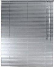 Sonnenschutz-HH - Aluminium Jalousie Standard 95 x 150 cm silber / 95x150 cm / Alu-Jalousie Jalousette Fensterjalousie