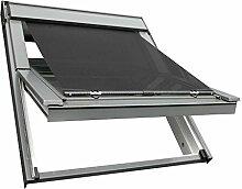 Sonnenschutz-HH Hitzeschutz Markise Hitzeschutzmarkise für VELUX Dachfenster Rollo GGL/GPL/GHL/GGU/GPU/GHU S06/SK06/S08/SK08 - schwarz / anthrazi
