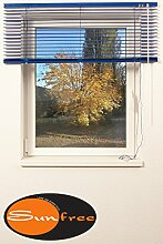 Sonnenschutz Jalousie ALU Breite 100 x Höhe 120 cm, blau
