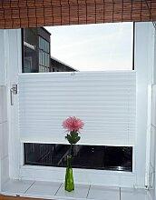 Sonnenschutz Klemmfix Plissee creme beige 75x130 cm / Montage ohne Bohren
