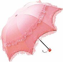 Sonnenschutz- Schwarze Kleber Princess Umbrella Spitzen Anti Ultravioletter Sonnenschirm Falzen Doppelzweck Umbrella,20
