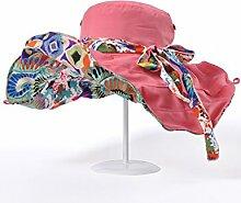 Sonnenschutz Sonnenhut- Weiblicher Sommer-Sonnenschutz-Strand-Hut-im Freien Anti-UV Kappe Faltbarer Sun-Hut (mehrfache Farben vorhanden) --Outdoor Strand Hut ( Farbe : 4 )