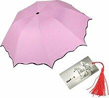 Sonnenschutz / UV-Blocker (Ultraviolett) / Regenschirm, kompakt, geringes Gewicht, in Blattform, Rosa
