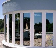 Sonnenschutzfolie Spiegelfolie außen Fenster Silver 15 XT silber-dunkel (selbstklebend) - 152cm Breite ab 1 Laufmeter (21,71€/qm)