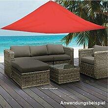 Sonnensegel Dreieck rot 5x5x5m Polyester Sonnenschutz Windschutz Sonnendach