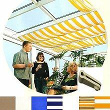 Sonnensegel für Seilspannmarkise Pergola Wintergarten Beschattung Laufhaken , Farbe Größe:Weiß 2.65x1.45m