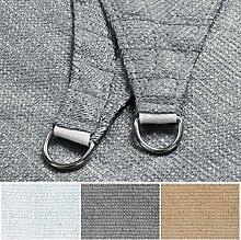 Sonnensegel | Rechteck, Dreieck oder Quadrat | UV-beständig und luftdurchlässig | Sonnenschutz für Balkon, Terrasse und Garten | viele Größen | Quadrat 5x5 m | grau