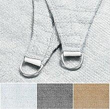 Sonnensegel | Rechteck, Dreieck oder Quadrat | UV-beständig und luftdurchlässig | Sonnenschutz für Balkon, Terrasse und Garten | viele Größen | Quadrat 5x5 m | weiß