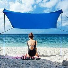 Sonnensegel Sonnenschutz mit 4 Sandsaecken und 2