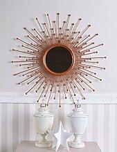 Sonnenspiegel Kupfer Spiegel Sonne Dekospiegel Kaminspiegel Konsolenspiegel Palazzo Exklusiv