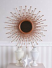 Sonnenspiegel Kupfer Spiegel Sonne Dekospiegel