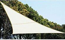 Sonnentuch Schattensegel 2 x 2 x 2 m um in Garten, auf Terrasse oder Balkon Schatten zu spenden - Farbe : WEIẞ