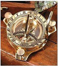 Sonnenuhr mit Kompass messing Ø 7cm H 3cm