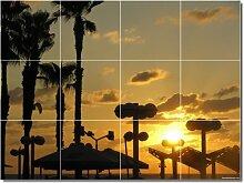 Sonnenuntergänge Foto Badezimmer Fliesen Wand 16. 45,7x 61cm mit (12) 6x 6Keramik Fliesen.