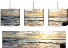 Sonnenuntergang am Meer inkl. Lampenfassung E27,