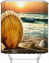 Sonnenuntergang Golden Seashells Badezimmer