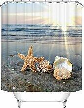 Sonnenuntergang Starfish Badezimmer Duschvorhang,