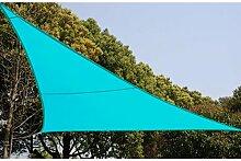 Sonnenzelt Schattensegel 3 x 3 x 3 m für Schatten im Garten, auf Ihrer Terrasse oder auf Ihrem Balkon - Lagune-blau