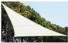 Sonnenzelt Schattensegel 5 x 5 x 5 m für Schatten im Garten, auf Ihrer Terrasse oder auf Ihrem Balkon - weiß