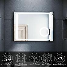 SONNI Badspiegel LED Beleuchtung Badezimmerspiegel