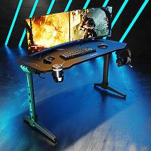 SONNI Gaming Tisch Computertisch Schwarz 140cm