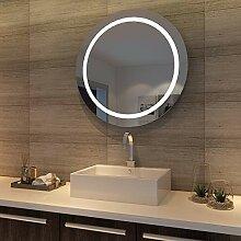 SONNI LED Badspiegel wandspiegel rund 84cm
