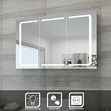 Sonni LED Spiegelschrank 105 x 65 x 13 cm