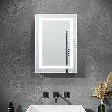SONNI LED Spiegelschrank 70 x 50 x 13 cm Hochglanz