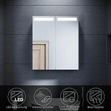 SONNI LED Spiegelschrank mit Beleuchtung 60 x 70
