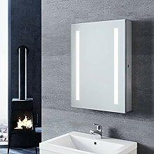 SONNI Spiegelschrank mit Beleuchtung 50 × 70cm