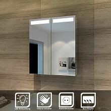SONNI Spiegelschrank mit Beleuchtung 60 x 70 cm