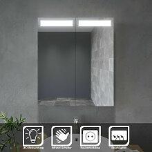 SONNI Spiegelschrank mit LED Beleuchtung 60 x 70