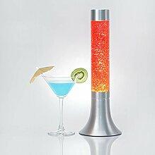 Sonnige Lavalampe Glitter Orange 38cm hoch Glas