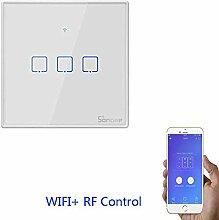 SONOFF T2EU3C-TX 3 Gang Smart WiFi Wall Light