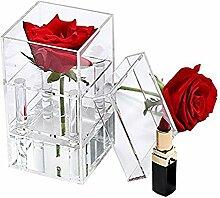 Sookg Neueste Klar Acryl Rose Flower Box mit Cover