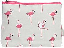 Sophie Allport Flamingos Wachstuch Kulturbeutel