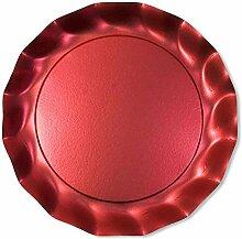 Sophistiplate Platzteller, Satin, rote