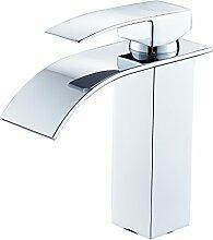SOQO Wasserfall Wasserhahn Bad Waschtischarmatur