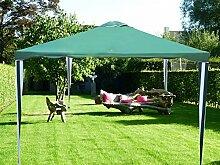 SORARA Pavillon   300 x 300 cm/3 x 3 m   Gartenzelt Partyzelt   Grün/Weiß Polyester   für Garten Terrasse Markt Camping Festival Wasserdich